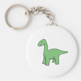 Brontosaurus verde lindo llavero