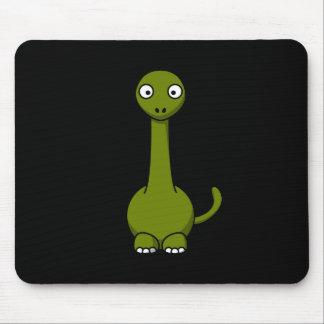 Brontosaurus verde lindo Mousepad Alfombrillas De Ratón