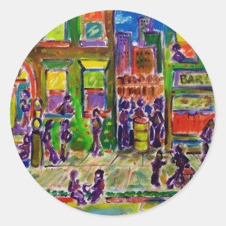 Bronx 7 by Piliero Classic Round Sticker
