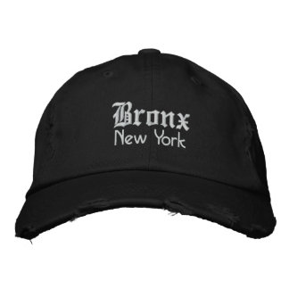 bronx bold embroidered baseball hat