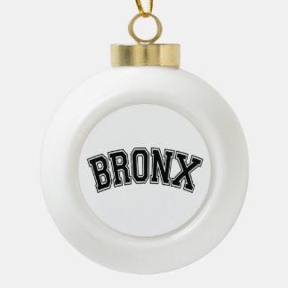 BRONX CERAMIC BALL CHRISTMAS ORNAMENT