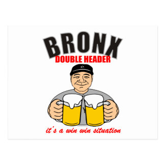 BRONX DOUBLE HEADER POSTCARD