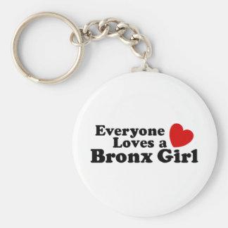Bronx Girl Basic Round Button Keychain