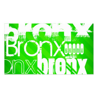 Bronx; Neon Green Stripes Double-Sided Standard Business Cards (Pack Of 100)