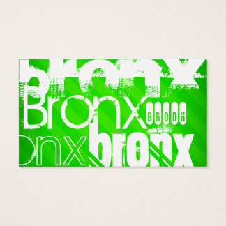 Bronx; Neon Green Stripes Business Card