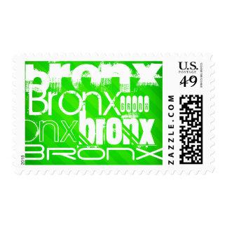Bronx; Neon Green Stripes Postage