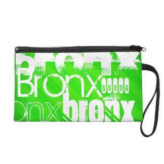 Bronx; Neon Green Stripes Wristlet Purse