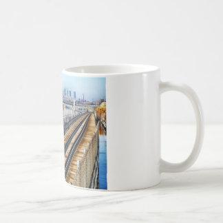 bronx new york city buildings river coffee mug