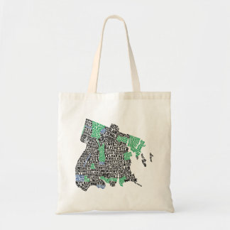 Bronx New York City Typography Map Tote Bag