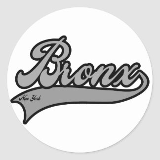 Bronx New York Classic Round Sticker