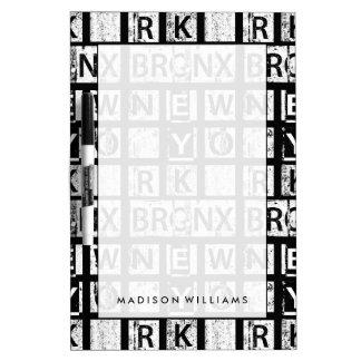 Bronx New York | Grunge Typography Dry Erase Board