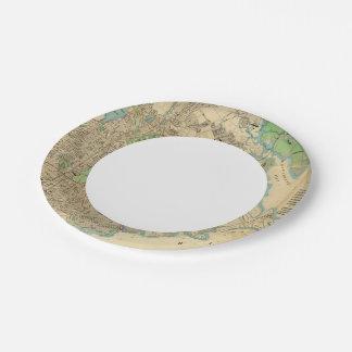 Bronx, New York Paper Plate