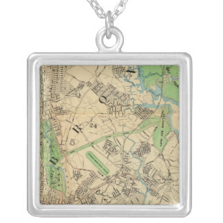 Bronx, New York Silver Plated Necklace