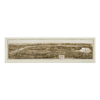 Bronx, NY Panoramic Map - 1897 Poster