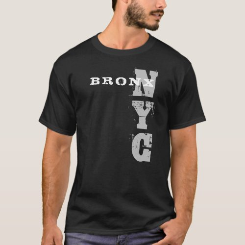 Bronx Nyc Text Black Creative Design Template T_Shirt