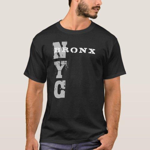 Bronx Nyc Text Black Template Creative Design T_Shirt