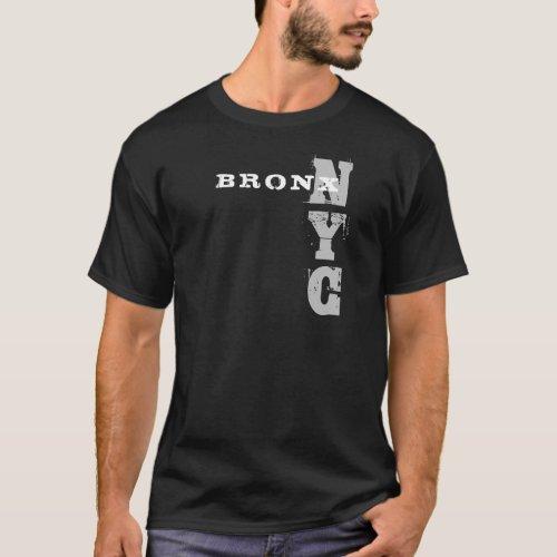 Bronx Nyc Text Creative Design Black Template T_Shirt