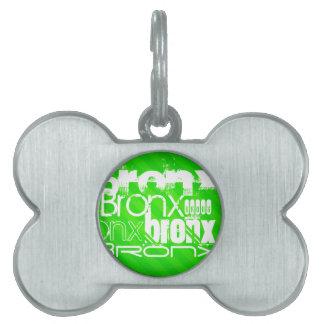 Bronx; Rayas verdes de neón Placas De Nombre De Mascota
