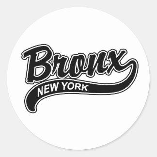 Bronx Round Stickers