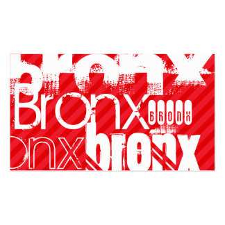 Bronx; Scarlet Red Stripes Double-Sided Standard Business Cards (Pack Of 100)