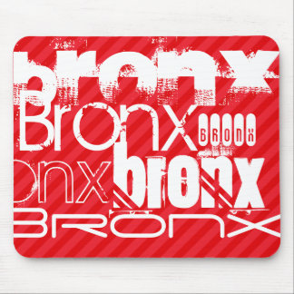 Bronx; Scarlet Red Stripes Mouse Pad