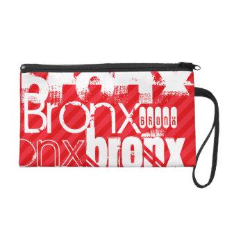 Bronx; Scarlet Red Stripes Wristlet