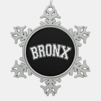 BRONX SNOWFLAKE PEWTER CHRISTMAS ORNAMENT