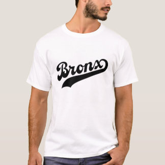 Bronx T-Shirt Black Script 1