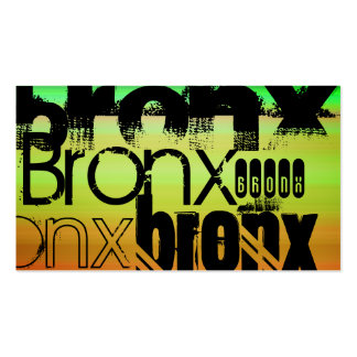 Bronx; Vibrant Green, Orange, & Yellow Double-Sided Standard Business Cards (Pack Of 100)