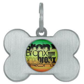 Bronx; Vibrant Green, Orange, & Yellow Pet Tag