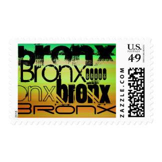 Bronx; Vibrant Green, Orange, & Yellow Postage