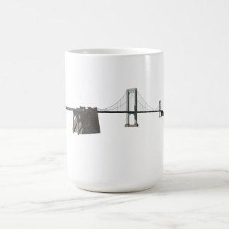 Bronx Whitestone Bridge: 3D Model: Coffee Mug