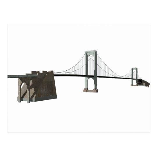 Bronx Whitestone Bridge: 3D Model: Postcard