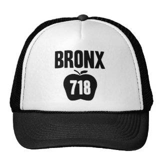 Bronx With Big Apple & 718 Area Code Cutout Hats