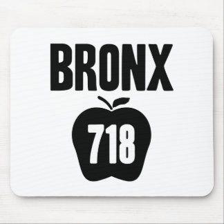 Bronx With Big Apple & 718 Area Code Cutout Mouse Pad