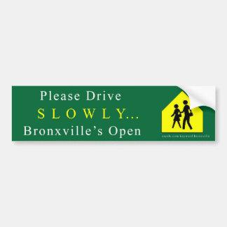 "Bronxville ""Slowly"" Bumper Sticker"