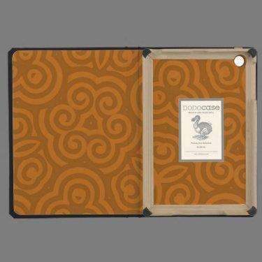 Bronze Abstract Pattern iPad Mini Cases