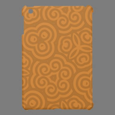 Bronze Abstract Pattern iPad Mini Covers