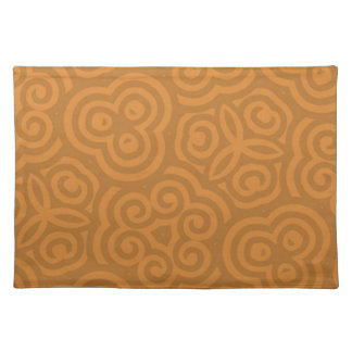 Bronze Abstract Pattern Place Mats