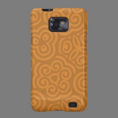 Bronze Abstract Pattern Samsung Galaxy Covers