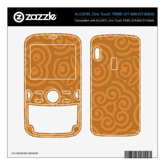 Bronze Abstract Pattern ALCATEL Tribe Skin
