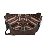 Bronze Age Fractal Geometric Abstract Copper Shine Courier Bag