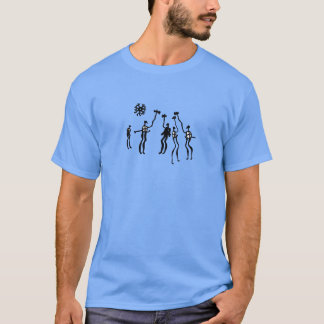 Bronze Age rock art wariors T-Shirt