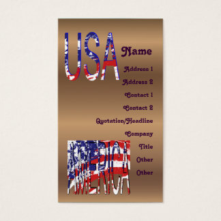 Bronze American USA Create Your Own Business Card