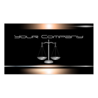 Bronze and Black Attorney Business Card