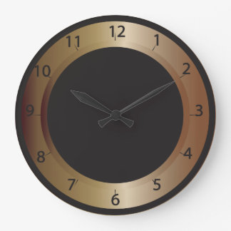 Bronze and Black Wall Clock