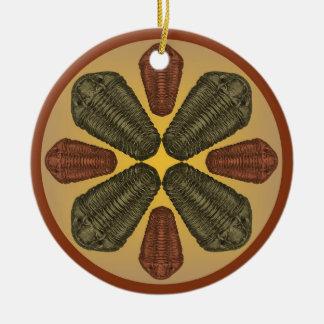 Bronze and Copper Calymene Niagarensis trilobites Ceramic Ornament