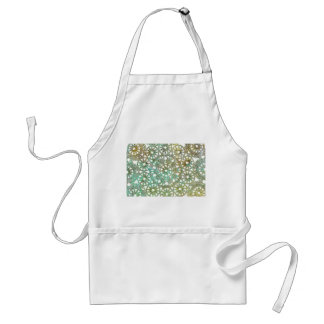 bronze and green abstract lace design cutout adult apron