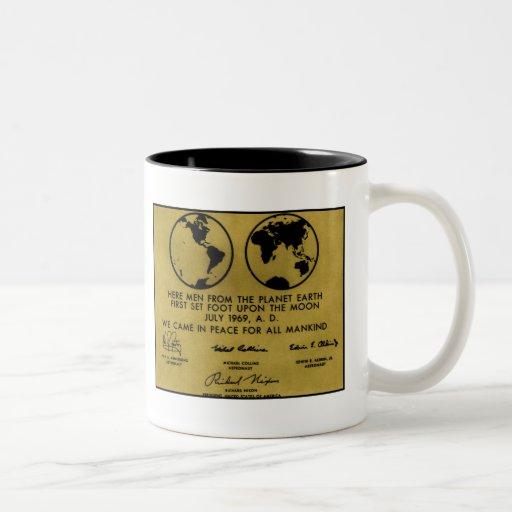"Bronze ""APOLLO PLAQUE"" Coffee Mug"