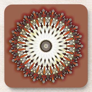 Bronze beauty kaleidoscope drink coaster